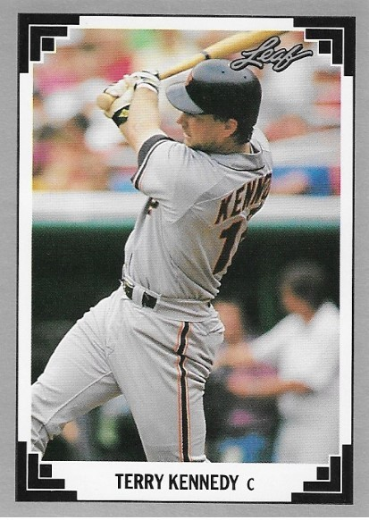 Kennedy Terry San Francisco Giants Leaf 216 Baseball Trading Card 1991