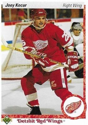 Kocur, Joey / Detroit Red Wings | Upper Deck #411 | Hockey Trading Card | 1990-91 | Rookie Card