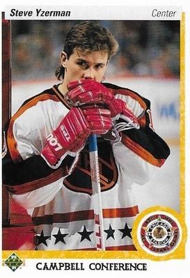 Yzerman, Steve / Detroit Red Wings | Upper Deck #477 | Hockey Trading Card | 1990-91 | All-Star