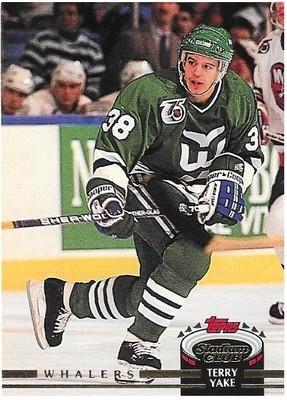 Yake, Terry / Hartford Whalers | Stadium Club #496 | Hockey Trading Card | 1992-93