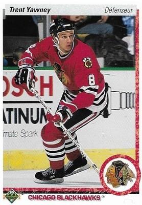 Yawney, Trent / Chicago Blackhawks | Upper Deck #82 | Hockey Trading Card | 1990-91 | Canada