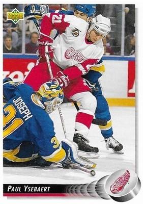 Ysebaert, Paul / Detroit Red Wings | Upper Deck #176 | Hockey Trading Card | 1992-93