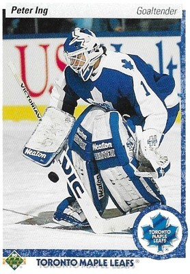 Ing, Peter / Toronto Maple Leafs | Upper Deck #432 | Hockey Trading Card | 1990-91 | Rookie Card