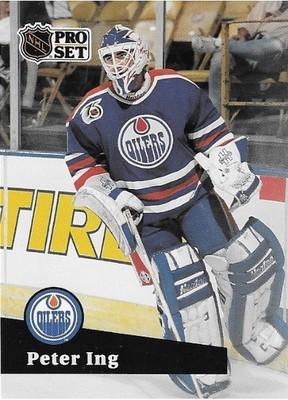 Ing, Peter / Edmonton Oilers | Pro Set #388 | Hockey Trading Card | 1991-92