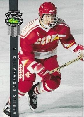 Kasparaitis, Darius / Moscow Dynamo | Classic Four Sport #154 | Hockey Trading Card | 1992