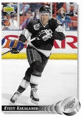 Karjalainen, Kyosti / Los Angeles Kings | Upper Deck #111 | Hockey Trading Card | 1992-93