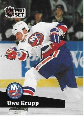 Krupp, Uwe / New York Islanders | Pro Set #436 | Hockey Trading Card | 1991-92