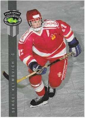 Klimovich, Sergei / Moscow Dynamo | Classic Four Sport #187 | Hockey Trading Card | 1992 | Draft Pick Collection