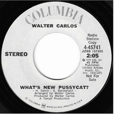 Carlos, Walter / What's New Pussycat? | Columbia 4-45741 | Single, 7