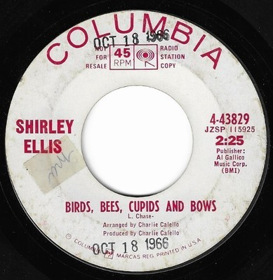 Ellis, Shirley / Birds, Bees, Cupids and Bows | Columbia 4-43829 | Single, 7