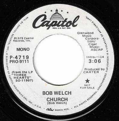 Welch, Bob / Church | Capitol P-4719 | Single, 7