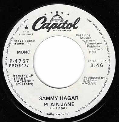 Hagar, Sammy / Plain Jane | Capitol P-4757 | Single, 7