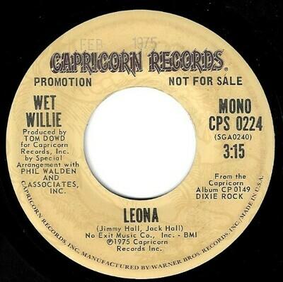 Wet Willie / Leona | Capricorn CPS-0224 | Single, 7