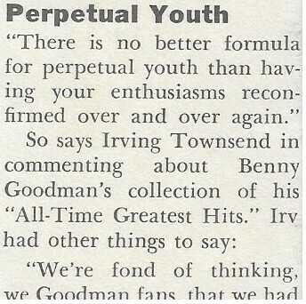 Goodman, Benny / Perpetual Youth | Magazine Article | 1972