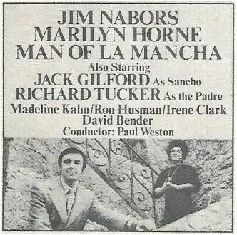 Nabors, Jim / A Lustrous La Mancha | Magazine Article | 1972