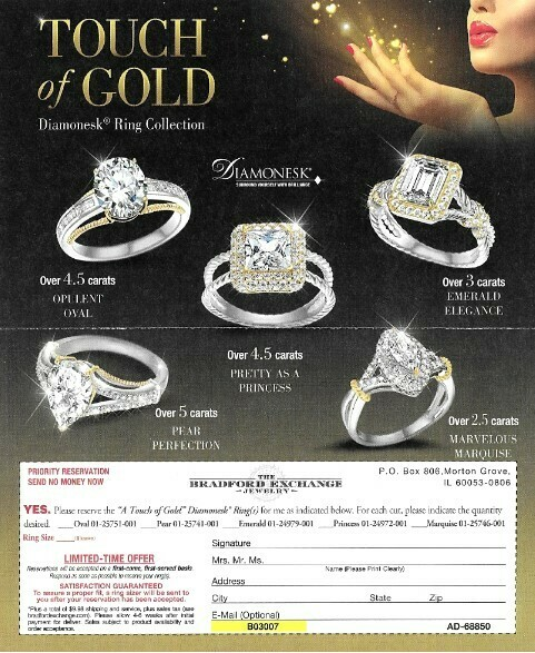 Bradford Exchange, The / Touch of Gold | Magazine Ad | 2019