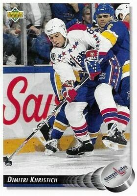 Khristich, Dimitri / Washington Capitals | Upper Deck #219 | Hockey Trading Card | 1992-93