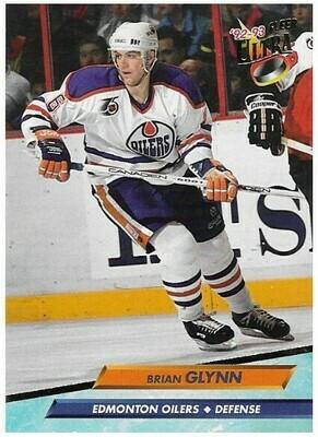Glynn, Brian / Edmonton Oilers | Ultra #58 | Hockey Trading Card | 1992-93