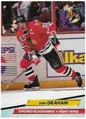 Graham, Dirk / Chicago Blackhawks | Ultra #36 | Hockey Trading Card | 1992-93