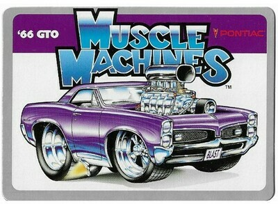 Muscle Machines / '66 GTO - Pontiac | Funtime | Toy Related Trading Card | 2000