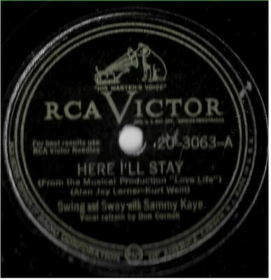 Kaye, Sammy / Here I'll Stay | RCA Victor 20-3063 | Single, 10