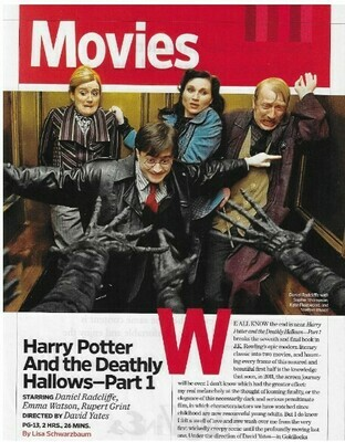 Radcliffe, Daniel / Harry Potter and the Deathly Hallows - Part 1 | Magazine Review | November 2010