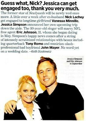 Simpson, Jessica / Guess What, Nick? | Magazine Article | November 2010 | Eric Johnson