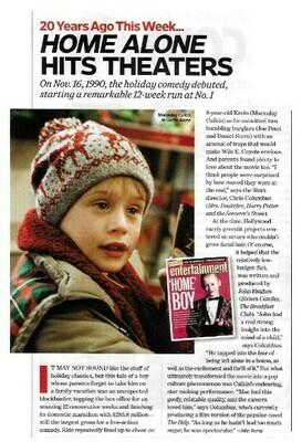 Culkin, Macaulay / Home Alone Hits Theaters | Magazine Article | November 2010