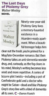 Mosley, Walter / The Last Days of Ptolemy Grey | Magazine Review | November 2010