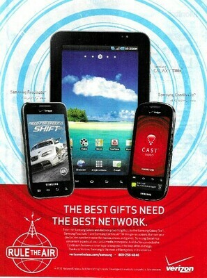 Verizon / The Best Gifts Need the Best Network | Magazine Ad | November 2010