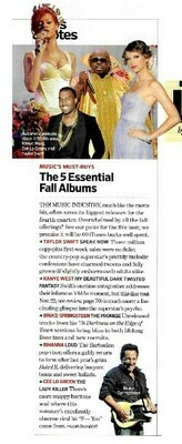 Swift, Taylor / The 5 Essential Fall Albums | Magazine Article | November 2010