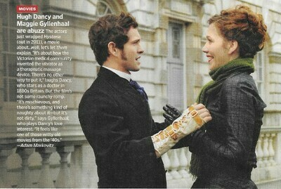 Gyllenhaal, Maggie / Hysteria | Magazine Article | November 2010 | with Hugh Dancy