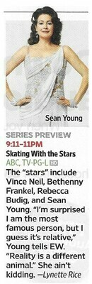 Young, Sean / Skating With the Stars | Magazine Article | November 2010