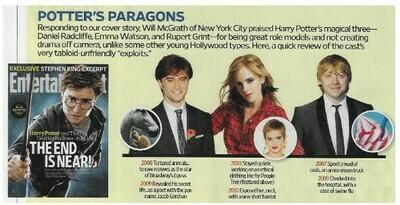Radcliffe, Daniel / Potter's Paragons | Magazine Article | November 2010