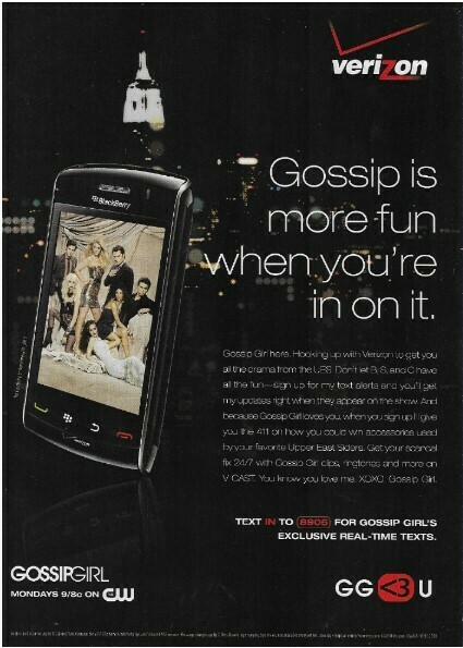 Verizon / Gossip Is More Fun When You're In On It | Magazine Ad | March 2010
