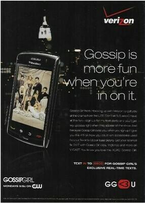 Verizon / Gossip Is More Fun When You're In On It | Magazine Ad | March 2010