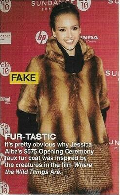 Alba, Jessica / Fur-Tastic   Magazine Photo with Caption   March 2010
