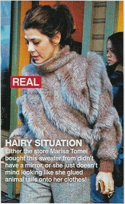 Tomei, Marisa / Hairy Situation   Magazine Photo with Caption   March 2010