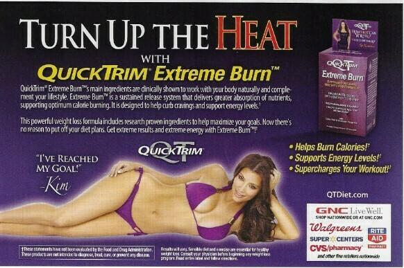 Kardashian, Kim / QuickTrim - Turn Up the Heat | Magazine Ad with Photo | March 2010