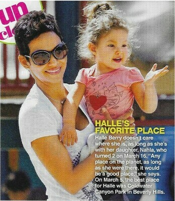Berry, Halle / Halle's Favorite Place   Magazine Photo with Caption   March 2010
