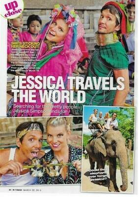 Simpson, Jessica / Jessica Travels the World   3 Magazine Photos with Caption   March 2010