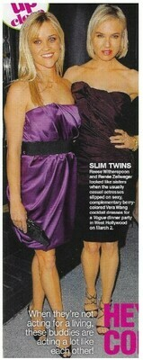 Witherspoon, Reese / Slim Twins   Magazine Photo with Caption   March 2010   with Renee Zellweger
