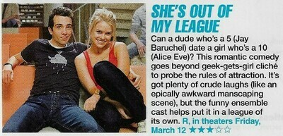 Eve, Alice / She's Out of My League | Magazine Review with Photo | March 2010 | with Jay Baruchel