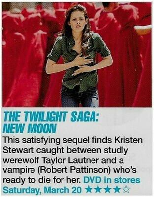 Stewart, Kristen / The Twilight Saga: New Moon | Magazine Review with Photo | March 2010