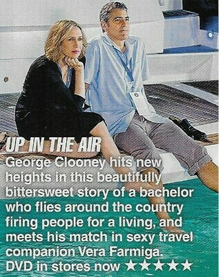Clooney, George / Up In the Air | Magazine Review with Photo | March 2010 | with Vera Farmiga