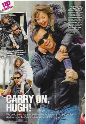Jackman, Hugh / Carry On, Hugh!   3 Magazine Photos with Caption   March 2010
