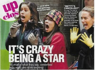 Ferrera, America / Betty's Canceled?   Magazine Photo with Caption   March 2010