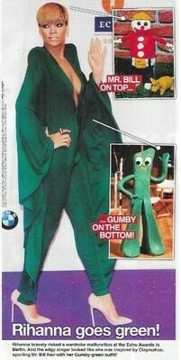 Rihanna / Rihanna Goes Green!   Magazine Photo with Caption   March 2010