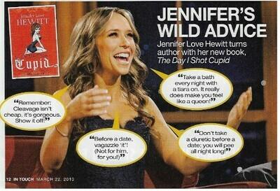 Hewitt, Jennifer Love / Jennifer's Wild Advice   Magazine Photo with Caption   March 2010