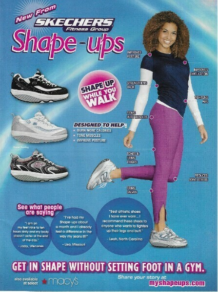 Skechers / Shape-Ups - Shape Up While You Walk | Magazine Ad | March 2010
